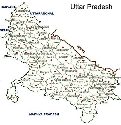 The Map of Study Area (Uttar Pradesh)