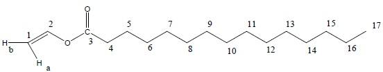 Ethenyl pentadecanoate/ Pentadecanoic acid, ethenyl ester/ Pentadecanoic acid, vinyl ester/ Vinyl pentadecanoate (a fatty acid ester)