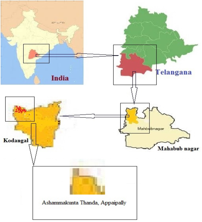 Study Area Ashammakunta Thanda Appaipally,Kodangal Mandal,Mahabubnagar Dist,Telangana,India