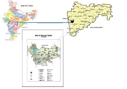 Map represents Area under study