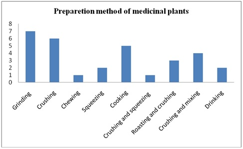 methods of preparation of traditional medicinal plant remedies in the study area